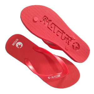 Rubber Flip Flops with Die-Cut Logo on The Sole Bottom pictures & photos
