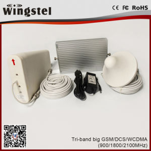 Tri Band 900/1800/2100MHz 2G 3G 4G Powerful Mobile Signal Booster pictures & photos