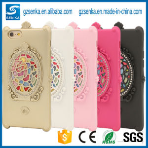Rose with Rhinestone Mirror Phone Case for iPhone 6 Plus pictures & photos