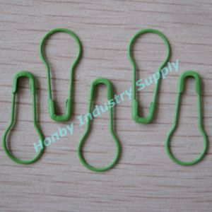 Decorative Coilless Green Pear Shape Safety Pin in Bulk