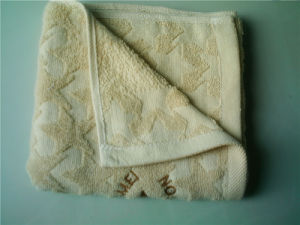 Solid Cotton Customized Plain Dyed Jacquard Hand Towels (CU-363)
