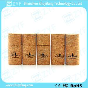Custom Logo Full Capacity Bottle Cork Wood USB Stick (ZYF1326)