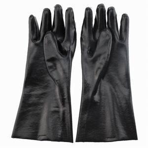 Chemical Resistant Black PVC Gloves pictures & photos