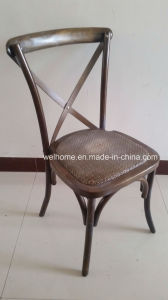 Antique Vintage Durable X Cross Back Chair with Rattan Seat pictures & photos