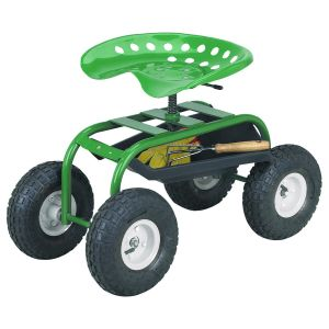 4 Wheeled Garden Caddy Tractor Seat Cart pictures & photos