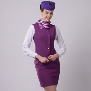 2016 Wholesale Women Professional Slim Airline Stewardess Uniforms pictures & photos