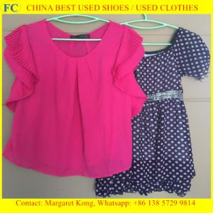 China Factory Export Good High Quality Used Clothes/Lady Silk Dresses pictures & photos