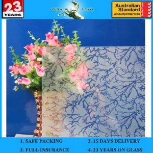 5mm-10mm Am-9 Decorative Acid Etched Frosted 1830*2440mm Art Architectural Glass pictures & photos
