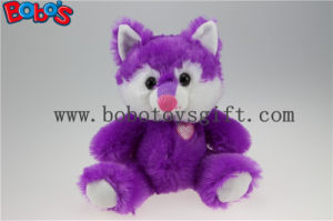 Cuddly Sitting Purple Plush Fox Animal as Children Toy for Festival pictures & photos