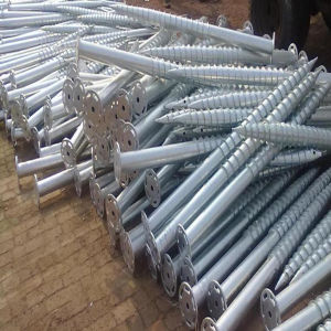 Solar Ground Screw Piles for Solar Panel Installation pictures & photos