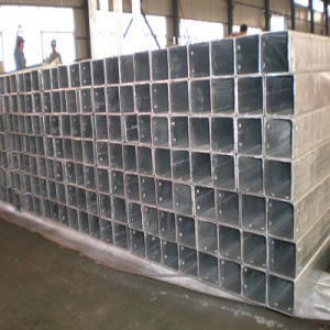 Hot DIP Galvanized Square Steel Hollow Section with Drilled Holes pictures & photos