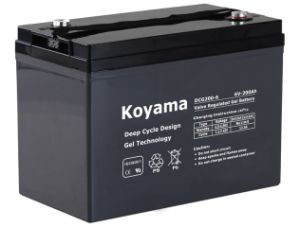 6V200ah-Deep Cycle Gel Battery for Golf/Utility/Neighborhood Electric Vehicle (NEV) (DCG200-6) pictures & photos