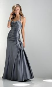 Classic Style Most Popular Taffeta Halter Prom Dress (PD13002) pictures & photos