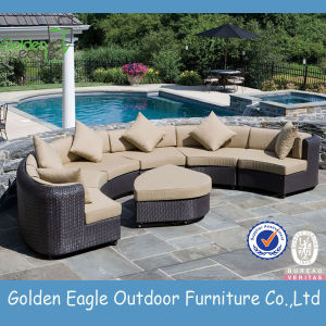 Popular Outdoor Sofa Set, Sectional Semi Round Sofa pictures & photos