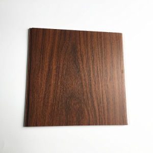 Wooden Color Laminating PVC Ceiling Tiles House Inner Decoration (RN-147) pictures & photos