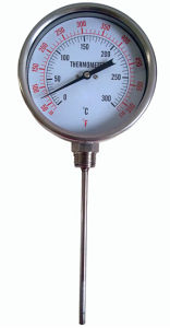 Bottom Type Bimetal Thermometer (B-0006)