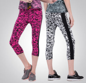 High Quality Sublimation Printing Fitness Gym Wear Stretch Four Ways Leggings Women′s Yoga Pants pictures & photos