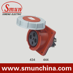 63A 4pin 380V IP67 Panel Socket, Wall Mounting Socket, 125A 3p+E 400V IP67 pictures & photos