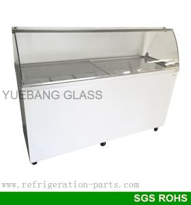 Curved Glass for Ice Cream Dipping Cabinet
