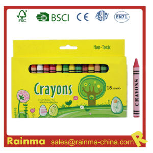 Non-Toxic 18PCS Jumbo Crayon in Paper Box pictures & photos
