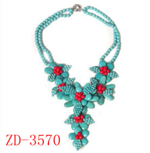 New Product Fashion Turquoise Chocker Collar Necklace (ZD-3570)