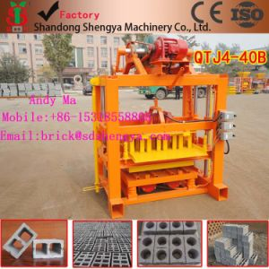 Shengya High Yield Concrete Brick Making Machine of Qtj4-40 Block Machine, Cement Hollow Brick Making Machine Price List Sale Nigeria Branch Office pictures & photos