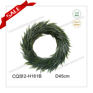 D22cm Wall Art Plastic Christmas Wreath Artificial Flower Craft pictures & photos