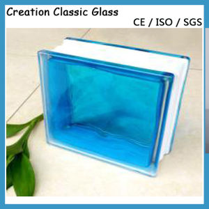 190*190*80mm Sapphire Cloudy Glass Block pictures & photos
