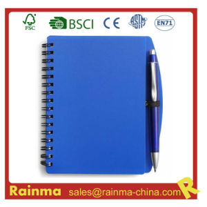 Blue PVC Cover Notebook for School and Office Supply pictures & photos