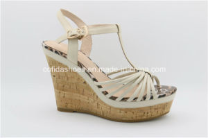 Stylish Fashion Women Sandals with Lady High Heels Wedge pictures & photos
