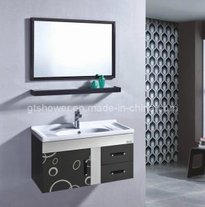Wall Mounted Black Bathroom Cabinet (GD5836-2B)