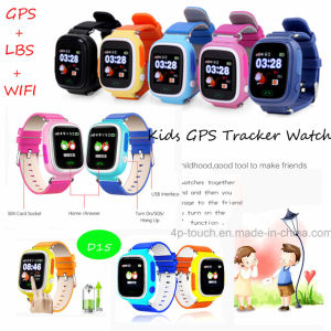 Hot Selling 1.22inch Touch Screen Kids GPS Tracker Watch (D15) pictures & photos