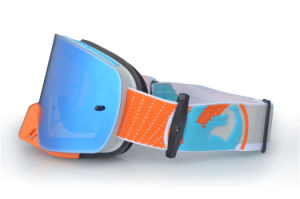 OTG Mirrored Snow Goggles for Skiing Mask with Nose Guard pictures & photos