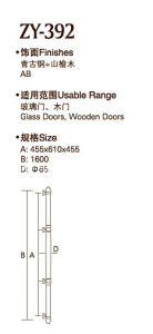 High Quality Ab Finish Door Handle (ZY-392) pictures & photos