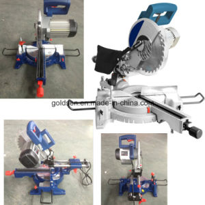 Latest 255mm 1800W Low Noise Induction Motor Wood/Aluminum Cutting Compound Miter Table Circular Saw Machine Electric Industrial Wood Saws (GW8020)