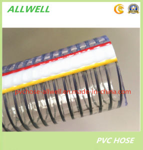 "PVC Plastic Steel Wire Reinforced Suction Hose Irrigation Garden Spiral Spring Water Pipe Hose 1"" pictures & photos"