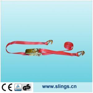 SLN Wide Handle Flat Hook End Ratchet Tie Down Straps pictures & photos