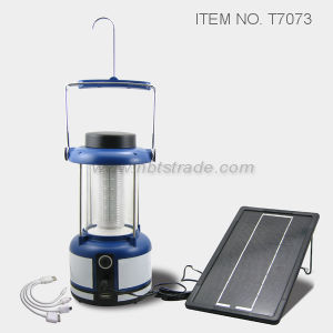 Rechargeable Lantern with Solar Panel (T7073) pictures & photos
