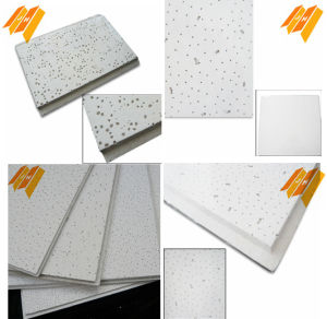 Narrow Reveal Sandy Texture Mineral Fiber Ceiling Tiles (595*595*15) pictures & photos