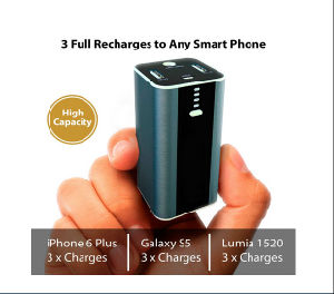 Smallest 10400mAh Portable Power Bank with LED Flashlight