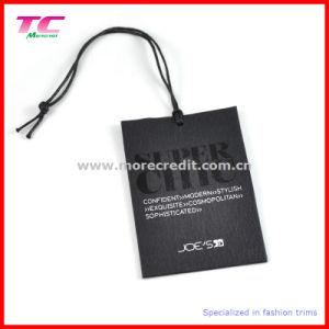 Printed Black Garment Paper Hangtag