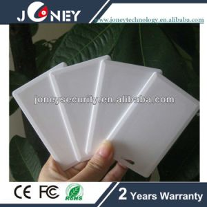 125kHz Em or 13.56MHz, 860-960MHz Plastic Door Access Control Blank RFID Card pictures & photos