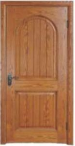 Solid Oak Wooden Door with Wonderful Painting