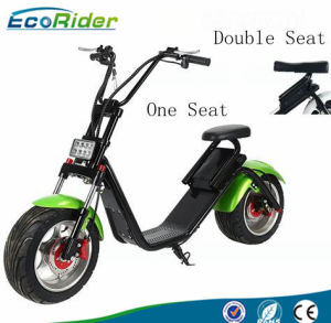 1200W Fat Tire Adults Electric Citycoco Scooter with Double Seat pictures & photos