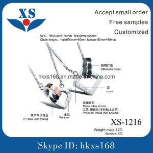 New Design Stainless Steel Couple Jewelry Charm pictures & photos