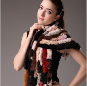 100% Natural Rex Rabbit Fur Scarf Qx14021 pictures & photos