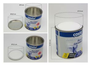 Hot Sale 500ml Paint Tins (FV-120609) pictures & photos