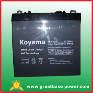Good Quality Deep Cycle Gel Wheelchairs Battery Dcg55-12 (12V 55Ah) pictures & photos