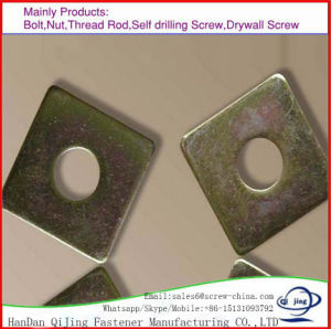 Hot DIP Galvanised Flat Square Washer DIN 346 pictures & photos