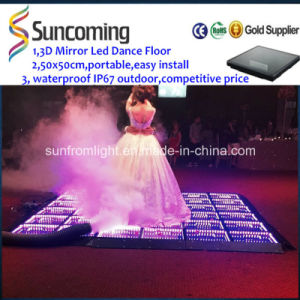 3D Optical Illusions LED Mirror Portable LED Dance Floor pictures & photos